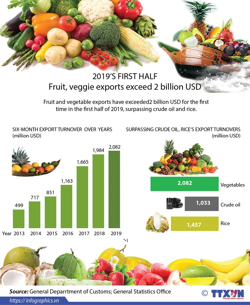 Fruit and veggie exports exceed 2 billion USD in first half hinh anh 1
