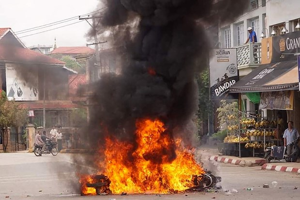 Myanmar parcel bomb blast leaves five dead, one injured